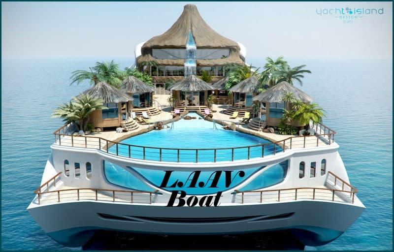 nave con isola tropicalelaav