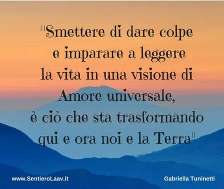 Amore universale nuova visione per Noi e la Terra